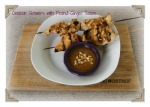 Chicken Skewers w Peanut-Ginger Sauce
